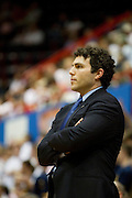 Head coach Josh Pastner of the Memphis Tigers looks on against the SMU Mustangs at Moody Coliseum on Wednesday, February 6, 2013 in University Park, Texas. (Cooper Neill/The Dallas Morning News)