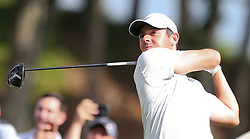 June 21, 2018 - Cromwell, Connecticut, United States - CROMWELL, CT-JUNE 21: Rory McIlroy tees off the 18th hole during the first round of the Travelers Championship on June 21, 2018 at TPC River Highlands in Cromwell, Connecticut. (Credit Image: © Debby Wong via ZUMA Wire)