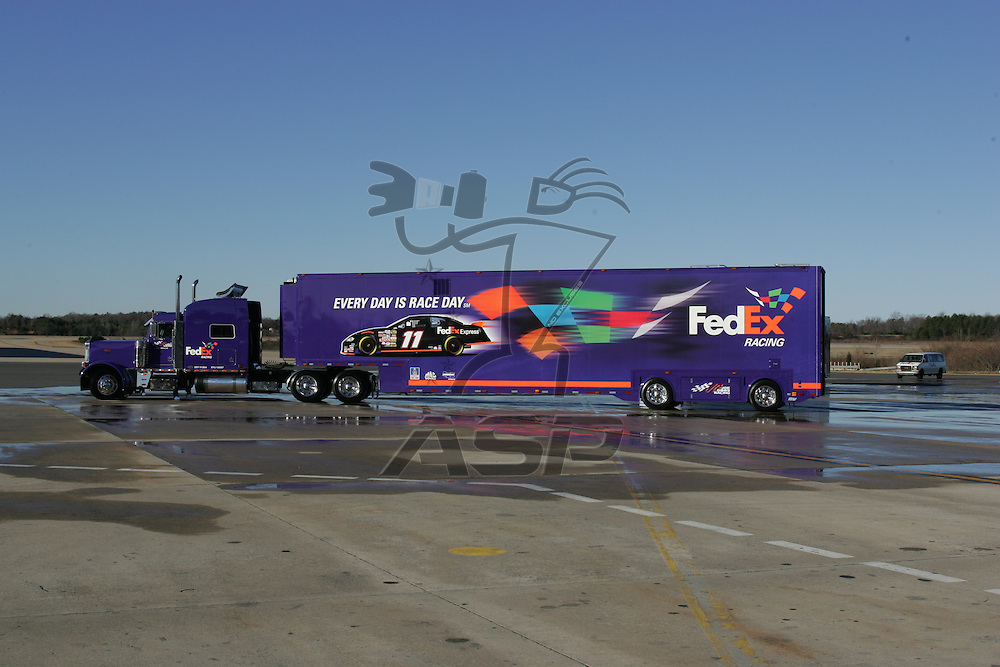 Charlotte, NC - Jan 24, 2006:  The No 11 FedEx Chevrolet Monte Carlo is photographed at Charlotte Douglas International Airport in Charlotte, NC.