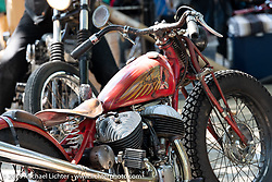 Custom Indian Chout by Japanese builder Go Takamine of Brat Style at the Born-Free Vintage Motorcycle show at Oak Canyon Ranch, Silverado, CA, USA. Sunday, June 23, 2019. Photography ©2019 Michael Lichter.