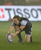 Rugby Union - 2020 / 2021 ERRC Challenge Cup - Newcastle Falcons vs Cardiff Blues - Kingston Park<br /> <br /> Joel Hodgson of Newcastle Falcons converts a penalty to make it 3-3<br /> <br /> COLORSPORT/BRUCE WHITE