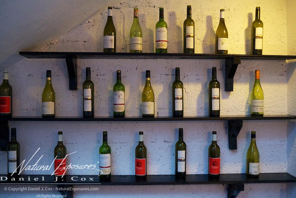 Bottles of wine on display in Galway, Ireland.