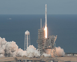 June 3, 2017 - Cape Canaveral, FL, United States of America - The SpaceX Falcon 9 rocket with the Dragon spacecraft onboard blasts off from Launch Complex 39A at the Kennedy Space Center June 3, 2017 in Cape Canaveral, Florida. Dragon is carrying almost 6,000 pounds of science research, crew supplies and hardware to the International Space Station. (Credit Image: © Bill Ingalls/Planet Pix via ZUMA Wire)