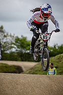 #85 (HATAKEYAMA Sae) JPN during practice at Round 3 of the 2019 UCI BMX Supercross World Cup in Papendal, The Netherlands