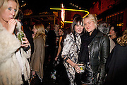 SOPHIA HESKETH; ANNABEL NEILSON; OLYMPIA SCARRY,  Prada Congo Art Party hosted by Miuccia Pada and Larry Gagosian. The Double Club,  Torrens St. London EC1. The Double Club is A Carsten Holler project by Fondazione Prada. 10 February 2009.