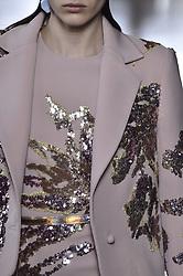 January 23, 2019 - Paris, FRANCE - Elie Saab. Model On CloseUpCatwalk, Paris Haute Couture Fashion Week 2019 HC Ready To Wear For Spring Summer, Details, Accessories, Defile, Fashion Show Runway Collection, Pret A Porter, Modelwear, Modeschau Laufsteg Sommer, France, .PARHS19 (Credit Image: © FashionPPS via ZUMA Wire)