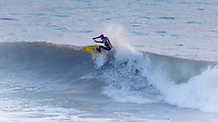 Winter surfing at Freshwater Bay, Isle of Wight