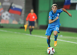 Kevin Kampl of Slovenia during football match between National teams of Lithuania and Slovenia at Round 3 of Euro 2016 Qualifications, on October 12, 2014 in Vilnius, Lithuania.  Photo by Robertas Dackus / Sportida.com