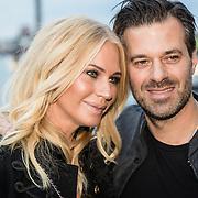 NLD/Amsterdam/20161008 - JFK Greatest Man 2016, zwangere Ellemiek Vermolen en partner Sergio Herman