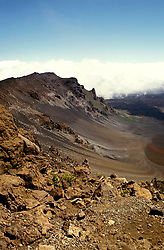 Hawaii: Maui, Volcanic Crater of Haleakala. Photo: himaui104  .Photo copyright Lee Foster, www.fostertravel.com, 510/549-2202, lee@fostertravel.com