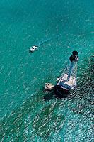 Aerial View, Alligator Light (lighthouse), Islamorada Key, Florida Keys, Florida USA