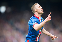 Inverness Caledonian Thistle's Marley Watkins celebrates after scoring their first goal. Falkirk v Inverness CT in the Scottish Cup final at Hampden.