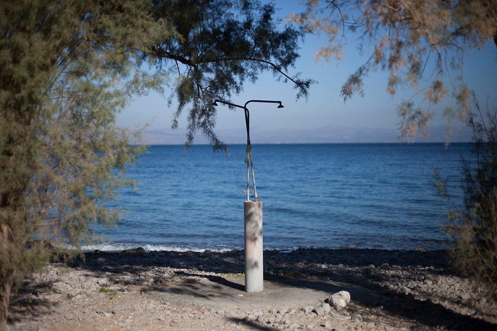 An empty beach near the vilage of Skala Sikamineas.