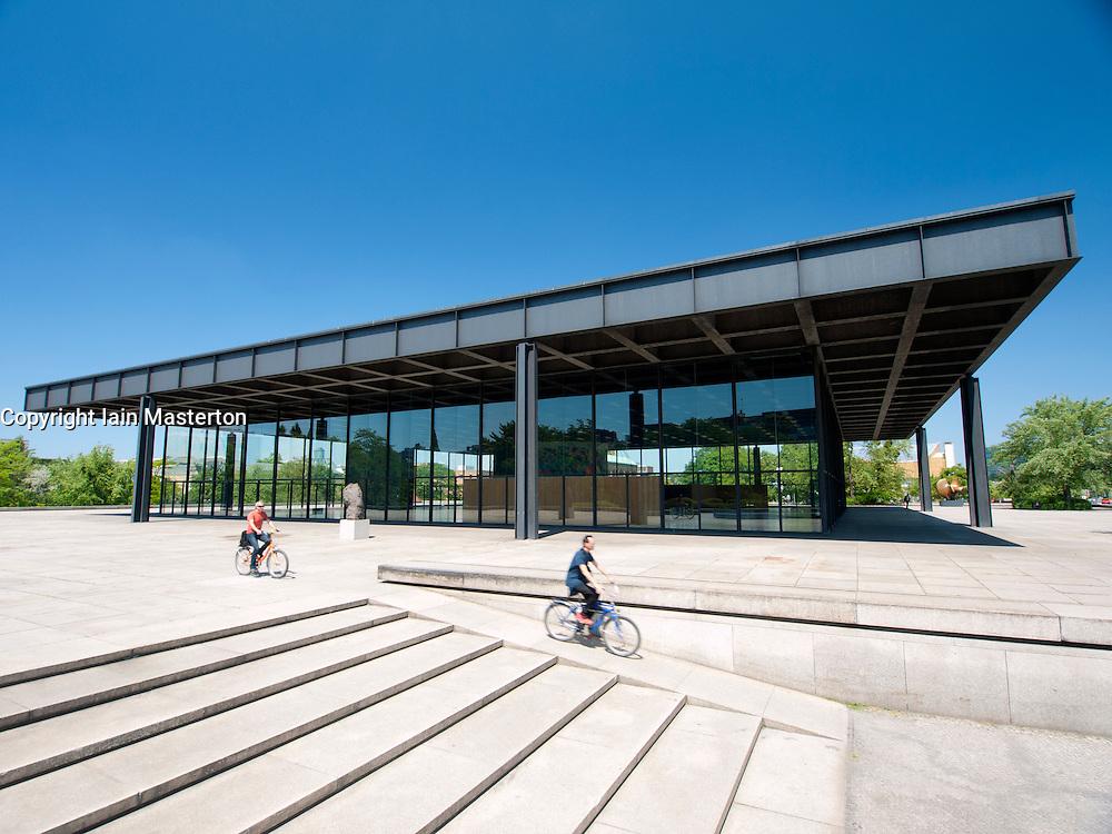 Exterior of Neue Nationalgalerie or New National Gallery modern art museum in Berlin Germany
