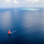 Leg 6 to Auckland, day 17 on board MAPFRE, Passing next to a reef of New Caledonia. 23 February, 2018.