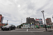 Campaign vans belonging to Tokyo Governor, Yuriko Koike as she campaigns in support of candidates from her newly established Tomin First no Kai (Tokyoites First) party, in Nakano,Tokyo, Japan. Friday June 30th 2017.  The popular female Governor's party is fielding around 40, mostly young candidates hoping to lessen the power of the ruling Liberal Democratic Party (LDP) in the capital.