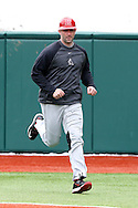 21 February 2015: Hartford head coach Justin Blood. The Iona College Gaels played the University of Hartford Hawks in an NCAA Division I Men's baseball game at Jack Coombs Field in Durham, North Carolina as part of the Duke Baseball Classic. Hartford won the game 12-1.