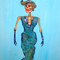 Americas, Mexico, Guanajuato. La Catrina, a skeletal woman symbolic of death, is found all over Mexico in arts and crafts.