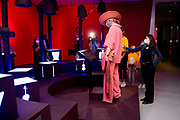 GRONINGEN, 01-06-2021 , Groninger Museum<br /> <br /> Koningin Maxima tijdens een werkbezoek aan de Kinderbiennale in het Groninger Museum. De eerste Kinderbiënnale van Nederland is een interactieve expositie met werk van kunstenaars uit binnen- en buitenland. <br /> <br /> Queen Maxima during a working visit to the Children's Biennale in the Groninger Museum. The first Children's Biennale in the Netherlands is an interactive exhibition with work by artists from the Netherlands and abroad.