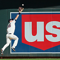 MINNEAPOLIS, MN - JUNE 02: Max Kepler #26 of the Minnesota Twins catches a Greg Allen #1 of the Cleveland Indians fly in the sixth inning against the Cleveland Indians at Target Field on June 2, 2018 in Minneapolis, Minnesota. (Photo by Adam Bettcher/Getty Images)  *** Local Caption *** Max Kepler; Greg Allen