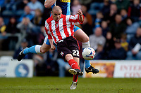 Photo: Richard Lane.<br />Wycombe Wanderers v Lincoln City. Coca Cola League 2. 17/04/2006. <br />Lincoln's Jamie Forrester scores his team's thrid goal.
