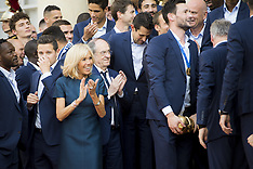 World Champions Reception At The Elysee - 16 July 2018
