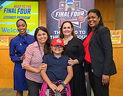 Tijerina Elementary School is recognized during the reveal of the 32 finalists in the Houston ISD NCAA Read to the Final Four, November 11, 2015.