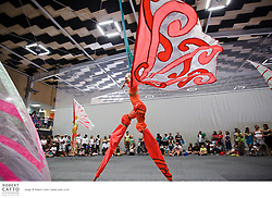 Empress Stiltdance present Kahuku, a dance duet based around the migration and life cycle of the butterfly, using high level stilts, acrobatics and aerials, at Te Rauparaha Arena in Porirua New Zealand.