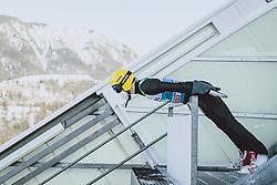 31.12.2020, Olympiaschanze, Garmisch Partenkirchen, GER, FIS Weltcup Skisprung, Vierschanzentournee, Garmisch Partenkirchen, Qualifikation, Herren, im Bild Evgeniy Klimov (RUS) // Evgeniy Klimov of Russian Federation during qualification jump of men's Four Hills Tournament of FIS Ski Jumping World Cup at the Olympiaschanze in Garmisch Partenkirchen, Germany on 2020/12/31. EXPA Pictures © 2020, PhotoCredit: EXPA/ JFK