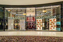 view of Dolce and Gabbana fashion boutique inside Dubai Mall in United Arab Emirates