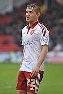Sheffield United midfielder Louis Reed during the Sky Bet League 1 match between Sheffield Utd and Port Vale at Bramall Lane, Sheffield, England on 20 February 2016. Photo by Ian Lyall.