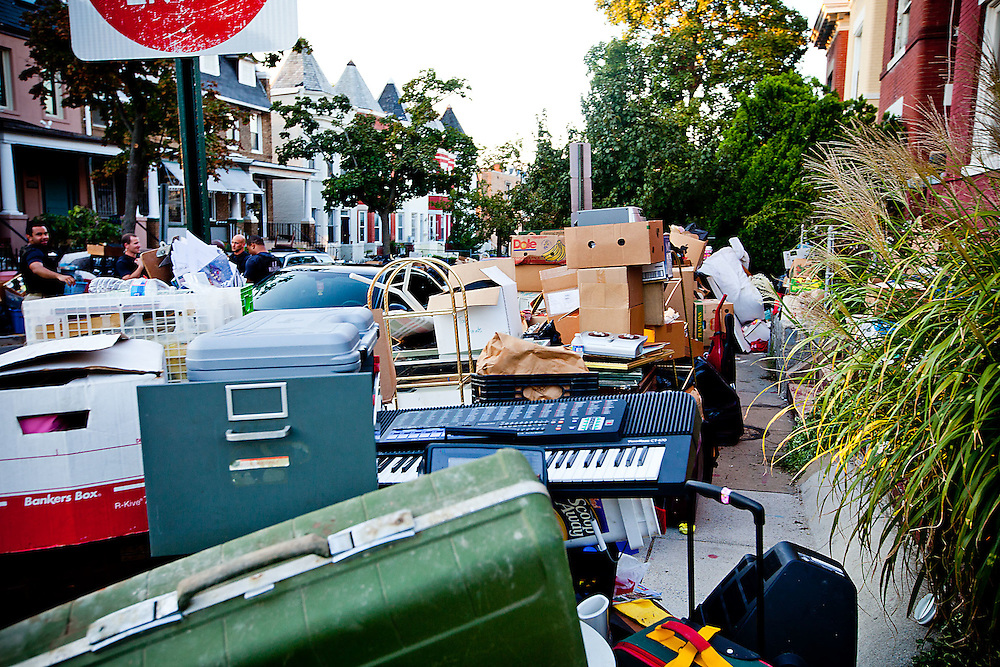 Washington, Sept. 21, 2010 - A hoarder gets evicted in NW Washington.