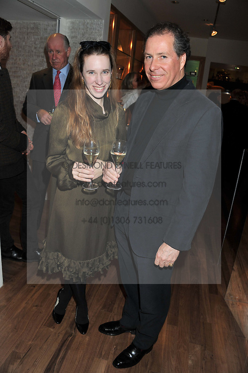 A dinner hosted by Ruinart Champagne in honour of David Linley was held at Linley, 60 Pimlico Road, London SW1 on 8th December 2011.<br /> DAVID LINLEY and LADY FRANCES VON HOFMANNSTHAL