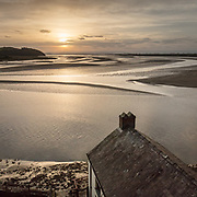 Dylan Thomas Boathouse, where the poet lived with his family between 1949 and 1953, Laugharne, Dyfed.
