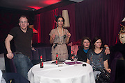 TIM DEWBERRY; OONA CHAPLIN;  JILL WINTERNETZ; MIKE DOXFORD; , Proud Cabaret launch. Mark Lane. London. EC3. 3 November 2009