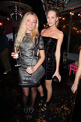 Left to right, CLARA PAGET and POPPY DELEVIGNE at a party to celebrate the launch of Lulu & Co held at the Fifth Floor Cafe, Harvey Nichols, Knightsbridge, London on 21st October 2010.