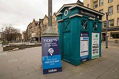 Deserted streets in Old Town during lockdown, Edinburgh, 3 April 2020