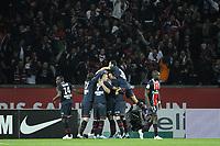FOOTBALL - FRENCH CHAMPIONSHIP 2011/2012 - L1 - PARIS SAINT GERMAIN v OLYMPIQUE MARSEILLE - 8/04/2012 - PHOTO JEAN MARIE HERVIO / REGAMEDIA / DPPI - JOY PSG AFTER THE 2ND GOAL