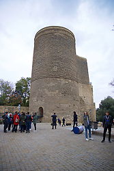 BAKU, AZERBAIJAN - Saturday, November 16, 2019: The Maiden Tower (Qız qalası) a 12th-century monument in the Old City of Baku pictured before the UEFA Euro 2020 Qualifying Group E match between Azerbaijan and Wales at the Bakcell Arena. (Pic by David Rawcliffe/Propaganda)