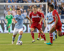 July 29, 2017 - Kansas City, Kansas, U.S - Pictured at foreground from l-r are Sporting KC forward Diego Rubio #11, Chicago Fire midfielder Bastian Schweinsteiger #31 and Chicago Fire defender Johan Kappelhof #4 at second half of the game. (Credit Image: © Serena S.Y. Hsu via ZUMA Wire)