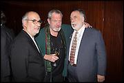 ALAN YENTOB; TERRY GILLIAM; FRANCIS FORD COPPOLA, Liberatum Cultural Honour for Francis Ford Coppola<br /> with Bulgari Hotel & Residences, London. 17 November 2014