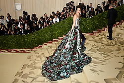 Amal Clooney attends the Costume Institute Benefit at The Metropolitan Museum of Art celebrating the opening of Heavenly Bodies: Fashion and the Catholic Imagination. The Metropolitan Museum of Art, New York City, New York, May 7, 2018. Photo by Lionel Hahn/ABACAPRESS.COM