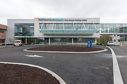 Yale-New Haven Park Avenue Medical Center. Architect: Shepley Bulfinch. Contractor: Gilbane Building Company, Glastonbury, CT. James R Anderson Photography, New Haven CT photog.com. Date of Photograph 4 May 2016  Submission 25  © James R Anderson. West Elevation View