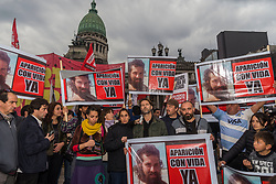 Aug 7, 2017 - Buenos Aires, Argentina - Human Rights, social and political organizations protest at the National Congress against the disappearance of Santiago Maldonado, who disappeared and was presumably arrested by Gendarmerie on August 1 in the province of Chubut. (Credit Image: © Julieta Ferrario via ZUMA Wire)