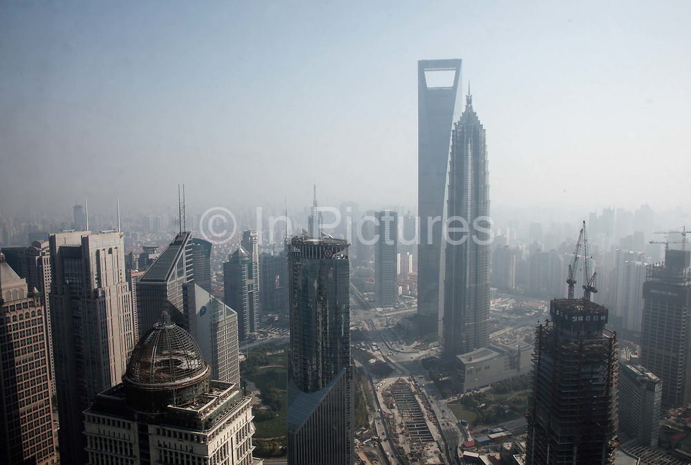 A view of the Pudong Financial District in Shanghai, China on 23 November 2009.