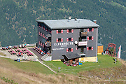 Elferhutte a restaurant and refuge on the summit of Elfer mountain, Neustift im Stubaital, Tirol, Austria