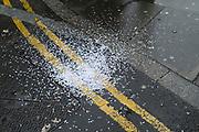 Hole punch holes London, United Kingdom.