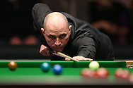 Joe Perry (Eng) in action. Ronnie O'Sullivan (Eng) v Joe Perry (Eng), the Masters Final at the Dafabet Masters Snooker 2017, at Alexandra Palace in London on Sunday 22nd January 2017.<br /> pic by John Patrick Fletcher, Andrew Orchard sports photography.