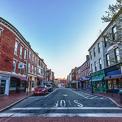 Market Street in Portsmouth, New Hampshire.