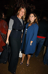 Left to right, FIONA GOLFAR wife of actor Robert Fox and ALEXANDRA SHULMAN at a party to celebrate the publication on 'A Year in My Kitchen' by Skye Gyngell held at The Petersham Nurseries, Petesham, Surrey on 19th October 2006.<br /><br />NON EXCLUSIVE - WORLD RIGHTS